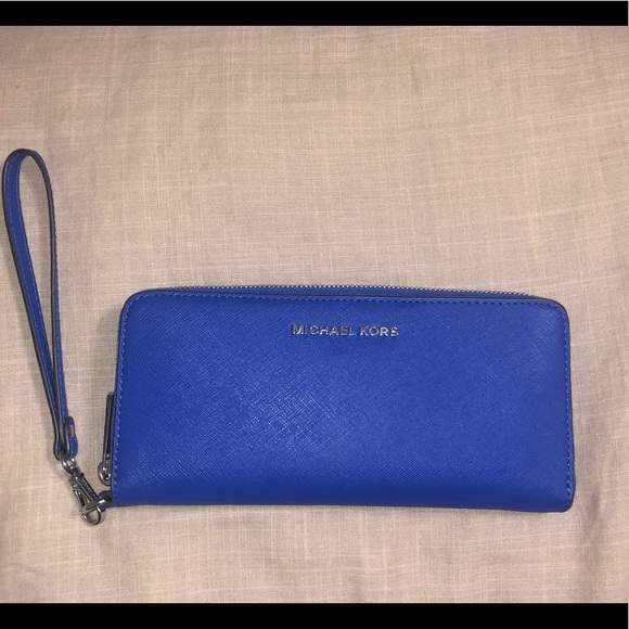 Michael Kors Handbags - Michael Kors Electric Blue Wristlet